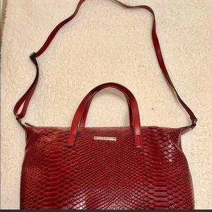 NINE WEST Faux Snakeskin Bag